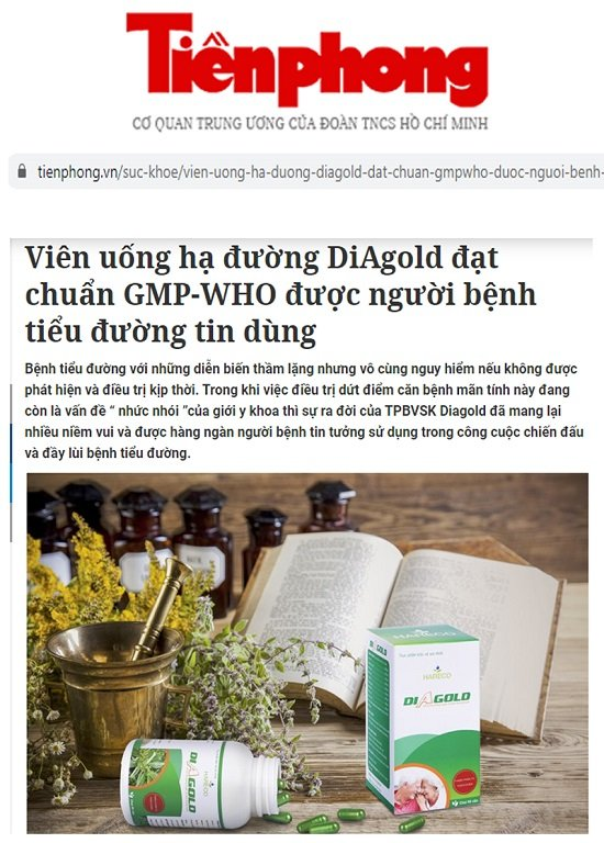 tiểu đường diagold báo tiền phong