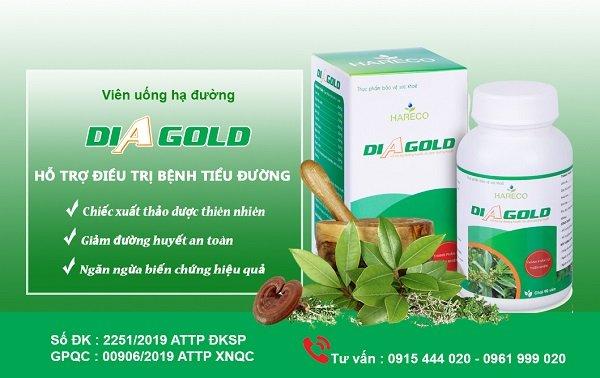 diagold hỗ trợ điều trị bệnh tiểu đường