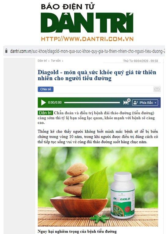 tiểu đường diagold bao dân trí