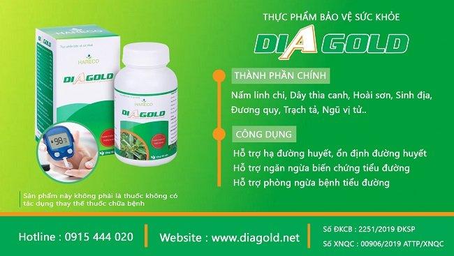 thuốc nam trị tiểu đường diagold