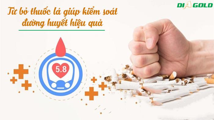 bỏ thuốc lá giúp kiểm soát đường huyết