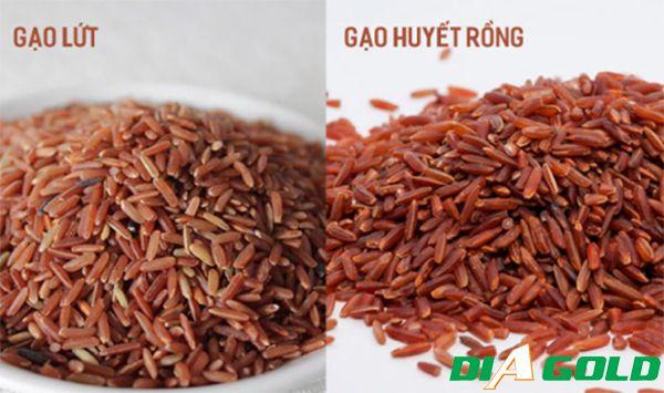 Cách phân biệt giữa gạo lứt và gạo lứt huyết rồng