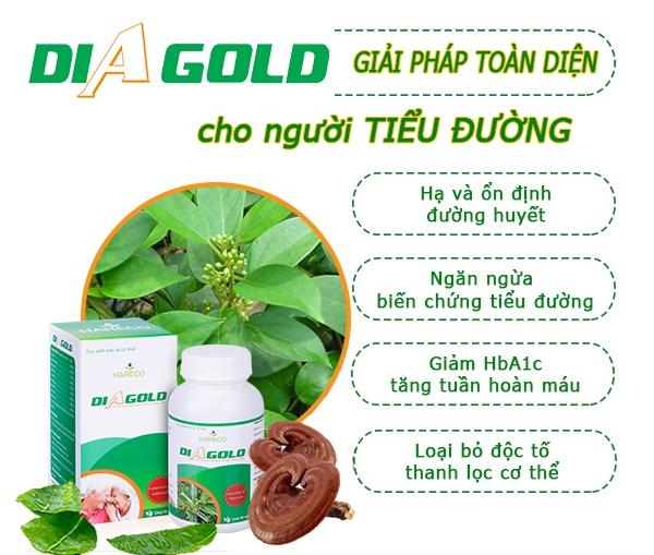 Diagold thảo dược hỗ trợ điều trị bệnh tiểu đường