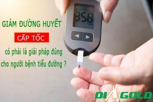 Cách giảm đường huyết cho người bệnh tiểu đường