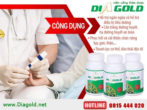 Diagold hỗ trợ điều trị tiểu đường