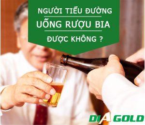 Tiểu đường uống rượu bia được không